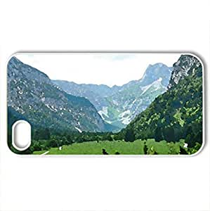 Mixed_1 - Case Cover for iPhone 4 and 4s (Watercolor style, White)