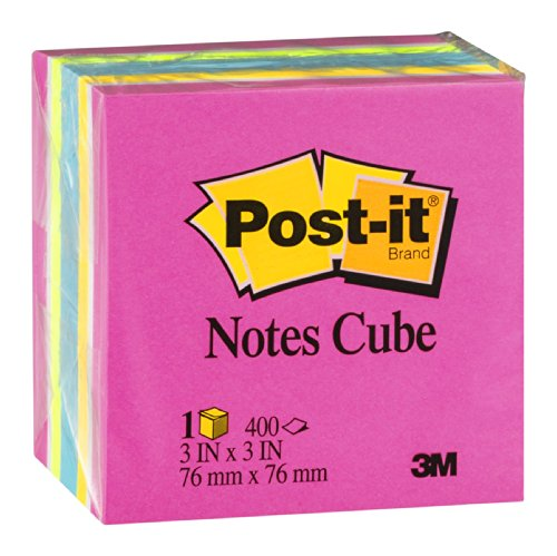 051131586260 - Post-it Notes Cube, 3 in x 3 in, Pink Wave, 400 Sheets/Cube (2053-AU) carousel main 1