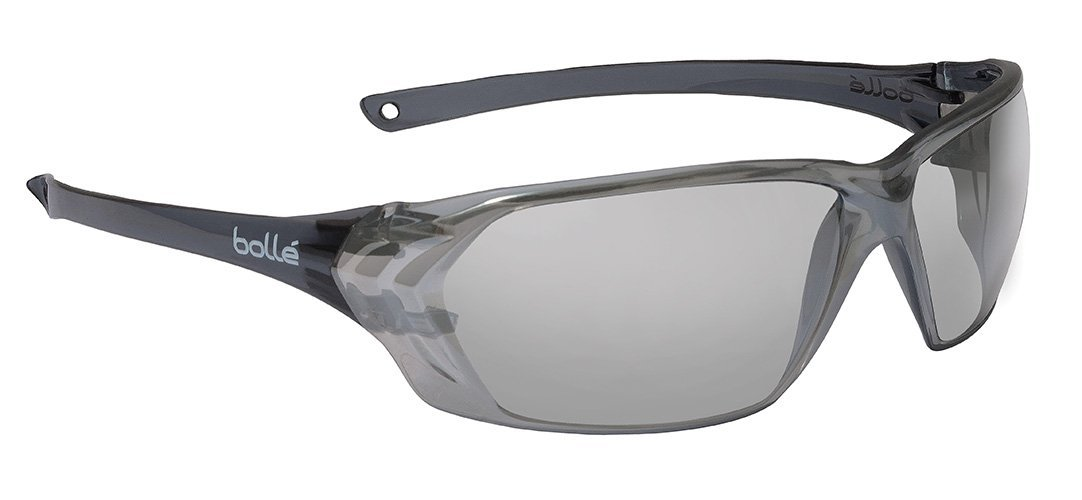 34f71bc15e6 Amazon.com  Bolle Safety 253-PR-40059 Prism Safety Eyewear with Shiny Black  Rimless Frame and Silver Mirror Anti-Scratch Anti-Fog Lens  Home Improvement
