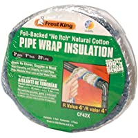 "Frost King CF42X Foil Backed ""No Itch"" Natural Cotton Pipe Wrap, 3-Inch x 1-Inch x 25-Feet"