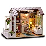 MOJIWING DIY Project Novelty Mini House Assembly Building Kit Educational Gadget Set Hobby IQ EQ Learning Crafting Skill Development Idea Birthday Gift Imagination Toy Kid