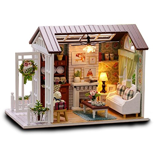 DIY Project Novelty Mini House Assembly Building Kit Educational Gadget Set Hobby IQ EQ Learning Crafting Skill Development Idea Birthday Gift Imagination Toy Kid