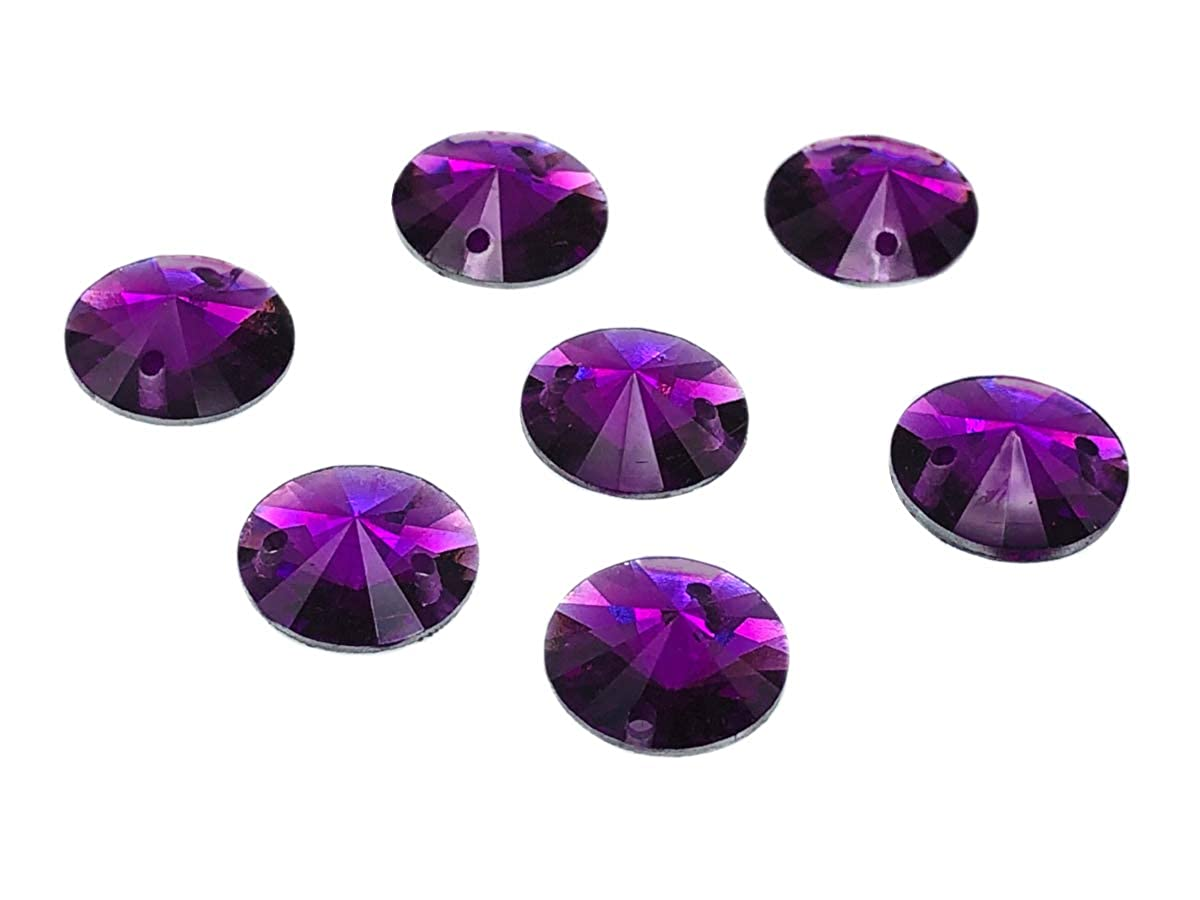 EIMASS® Resin Rivoli Sew or Glue on Crystals Flat Back Round Gems for Costumes