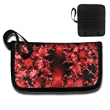 Thin Holder Credit Card Protector Maple Leaves Red Printed Organizer Business Women's Travel ID Card RFID Blocking