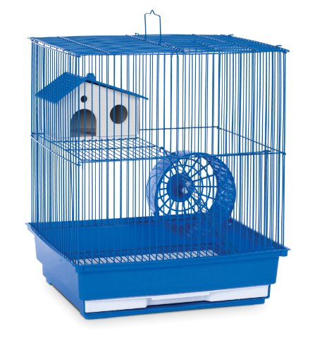 (Prevue Hendryx SP2010B Two Story Hamster and Gerbil Cage, Blue)