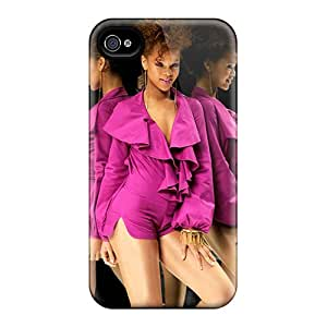 Scratch Protection Hard Cell-phone Case For Iphone 4/4s (DfM11315jIeY) Support Personal Customs Realistic Rihanna Pictures