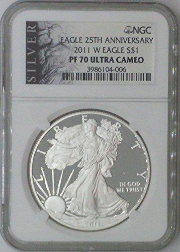 2011 W American Eagle $1 PF70 NGC PF