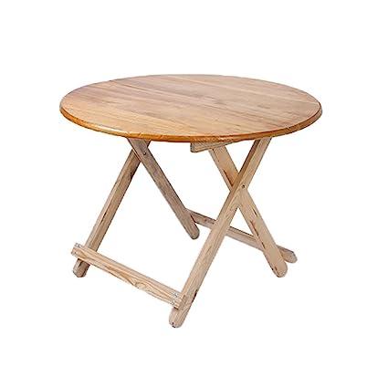 8fc2c5da0e3b Amazon.com : Aobeau Solid Wood Folding Table Round Table Multi ...