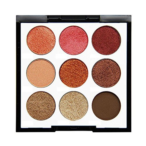 Hot 9 Color Pearl Glitter Eye Shadow Eyeshadow Cosmetic Pulison(TM) Fashion Long-lasting Luminous Matte Powder Palette Eye Shadow Makeup (A) supplier
