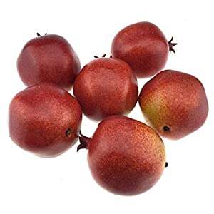 Gresorth 6pcs Lifelike Artificial Pomegranet Decoration Fake Pomegranate Fruit Home Party Kitchen Festival Show 2