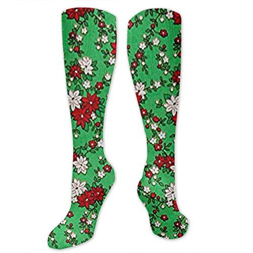 MLgJp Storybook Christmas Poinsettias Green Women