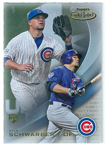 Kyle Schwarber baseball card (Chicago Cubs) 2016 Topps Gold Label #60 Rookie Refractor by Autograph Warehouse