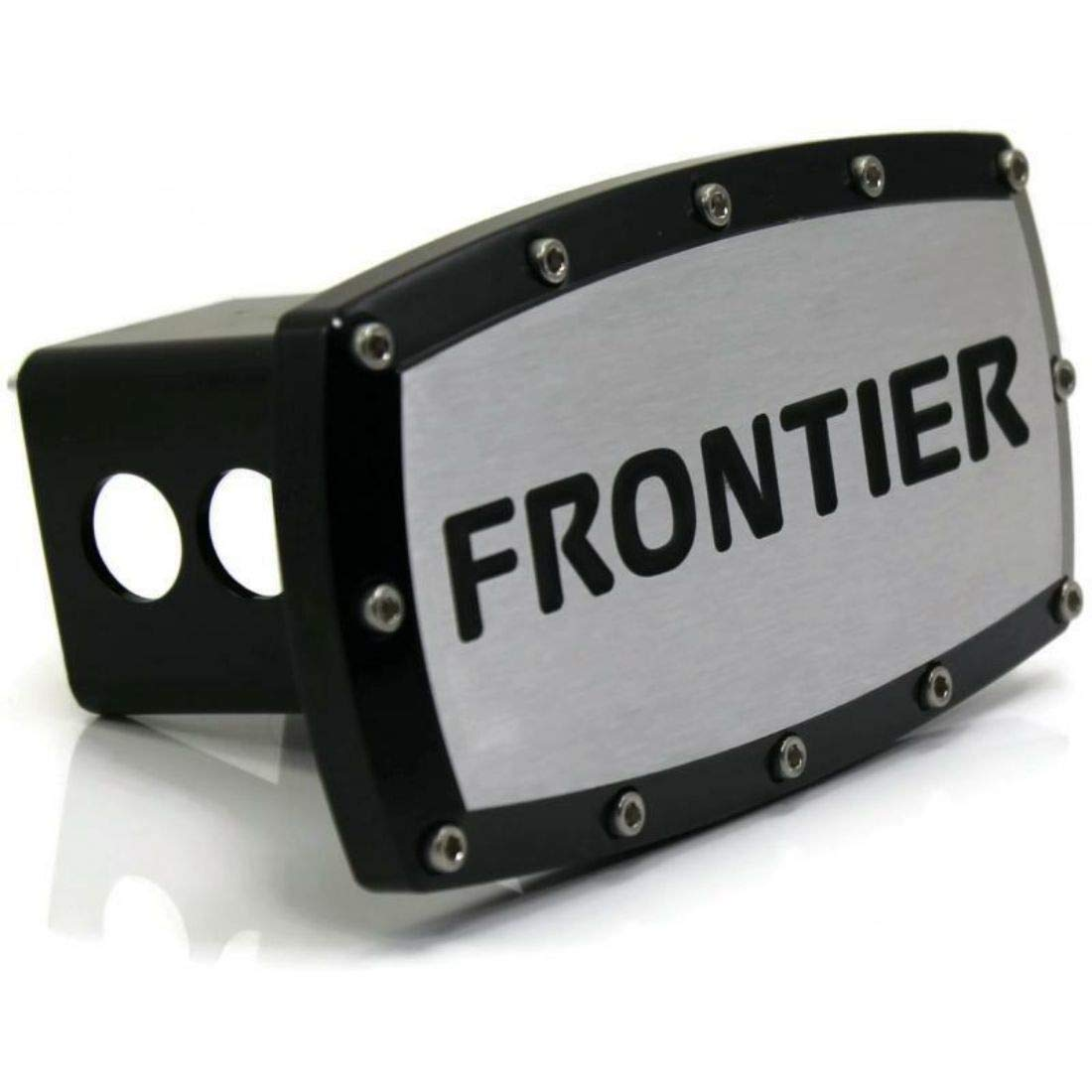 DanteGTS Nissan Frontier 2'' Tow Hitch Cover Plug Engraved Billet Black Powder Coated by Elite Automotive