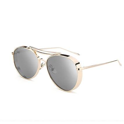 TESITE Gafas De Sol Hombres Gafas Polarizadas Redondas 100% Lentes De ProteccióN UV