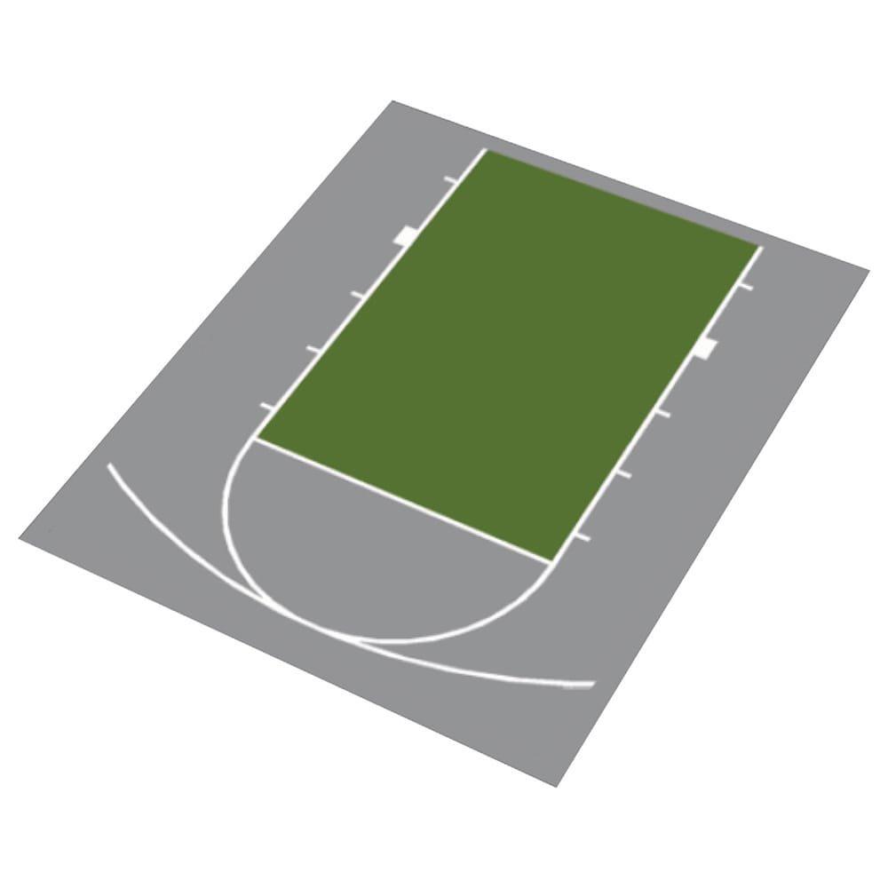 Versacourt DuraPlay, kit de media cancha de baloncesto - 1H ...