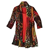 Product review for CATALOG CLASSICS Women's Fashion Jacket and Tank Top Set - Fire Red Animal Print