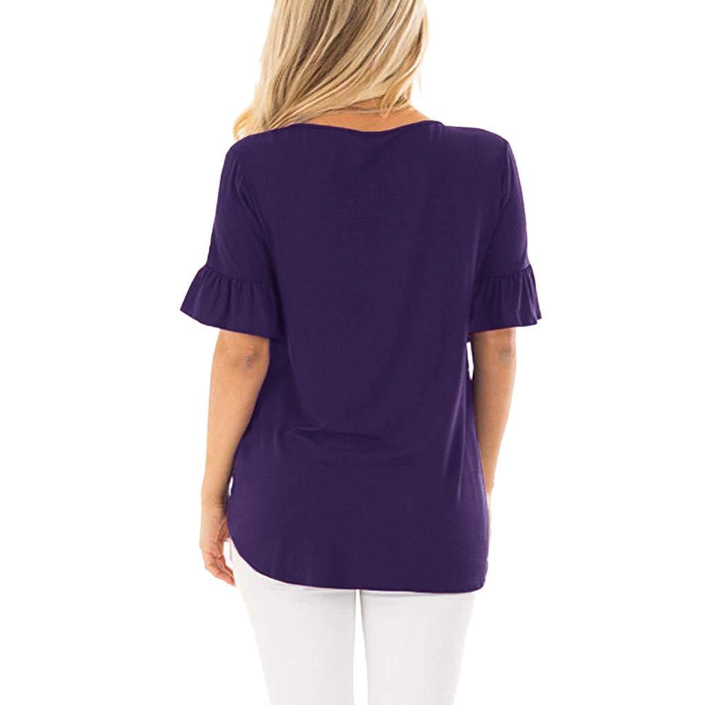 AOJIAN Shirts for Women,t Shirts for Men Pack,Shirts for Teen Girls,Shirts for Women, Shirts for Teens,Shirts for Men Long Sleeve,Shirts for Girls,Shirts for Boys,Shirts to wear with Leggings Purple by AOJIAN (Image #2)