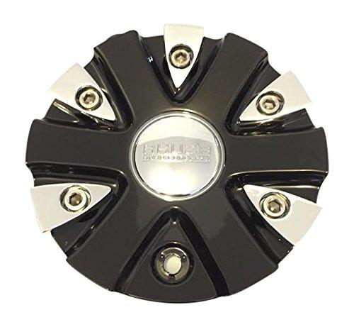 Akuza Big Papi EMR0712-CAR-CAP LG0610-53 Chrome and Black Center Cap