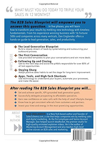 The b2b sales blueprint a hands on guide to generating more leads the b2b sales blueprint a hands on guide to generating more leads closing more deals and working less dan englander 9781522869788 amazon books malvernweather Gallery