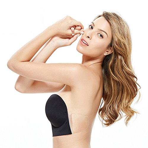 42c093e41c0 Gempack Deep U Plunge Silicone Invisible Bra Sticky Strapless Backless Bra  for Women