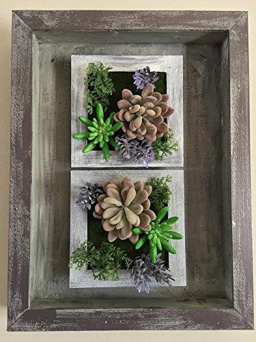 3D Artificial Plant Simulation Flower Frame Wall Decor Home Garden  Decorative Art Wall Hanging Flower