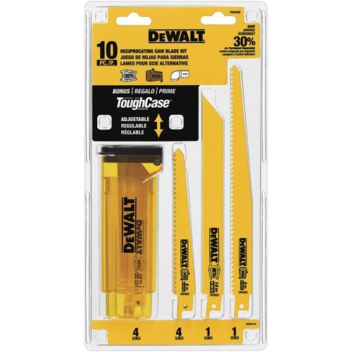 DEWALT DW4898 Bi-Metal Reciprocating Saw Blade Set with Case