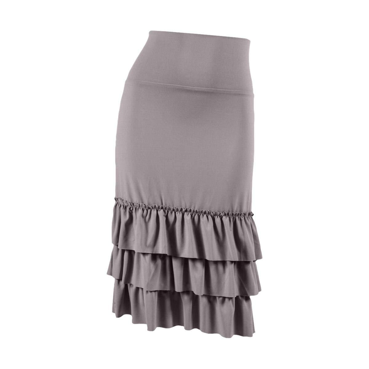 Peekaboo-Chic Bring on The Frill Half Slip Skirt Extender | Plus Size (Gray, 2X)