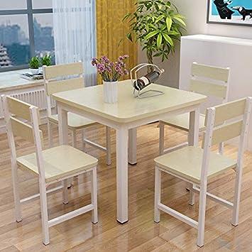 Huoduoduo Stuhl Tisch Moderne Massivholz Vierkant Esstisch Und