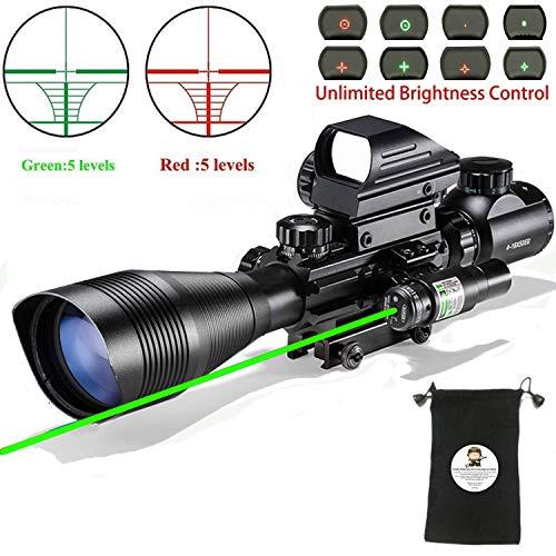 XOPin Hunting Rifle Scope Combo C4-16x50EG Dual Illuminated