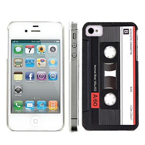 Mobiflare, Slim Clip-on Phone Case, for [iPhone 4 and 4S] - Cassette - 4s Tape Cassette Iphone Case