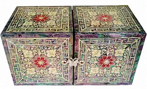 JMcore Mother of Pearl Arabesque & Butterfly Design Jewelry Box Nacre Jewellry Case by JMcore High Quality Jewelry Box