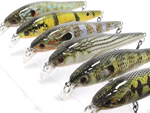 wLure Minnow Slow Flaoting Jerkbait for Bass Fishing Bass Lure Fishing Lure with Tackle Box HM597KB