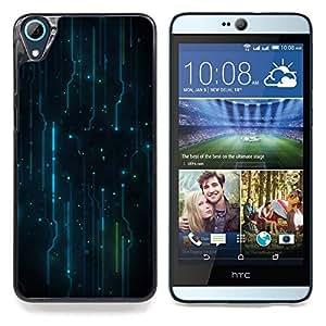 TikTakTok Funda Carcasa protectora para HTC Desire 826 - Patrón Electrónica Electro