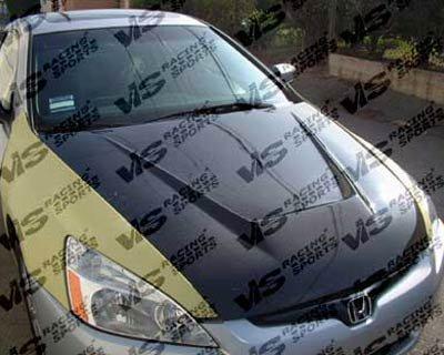 Accord Vis Oem Carbon Fiber (VIS 03-07 Honda Accord 4D Carbon Fiber Hood INVADER CM)