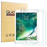 [2 Pack] iPad 9.7 2017 2018 Glass Screen Protector - HISSP High Definition Clear 9H Hardness Scratch Resistant Tempered Film iPad 5th 6th Generation - iPad Air 1 - iPad Air 2 - iPad Pro 9.7