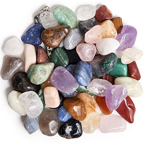 (Digging Dolls: 3 lbs Tumbled Natural Brazilian Stone Mix - Over 35 Stone Types - Medium - 1