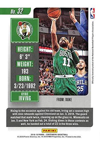 2018-19 Panini Contenders Season Ticket #32 Kyrie Irving Boston Celtics Basketball Card