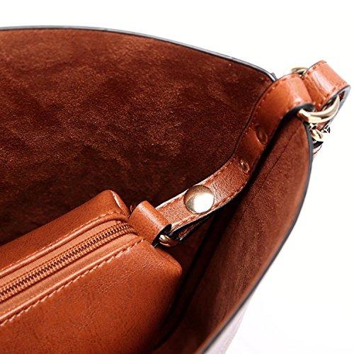 Women Handbags Designer Ladies Satchel Hobo Bags Tote PU Leather Handbags Shoulder Purse by BragBag (Image #10)