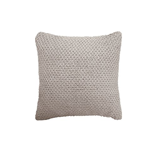 Boho Living Kelsey Decorative Pillow,  Light Grey For Sale
