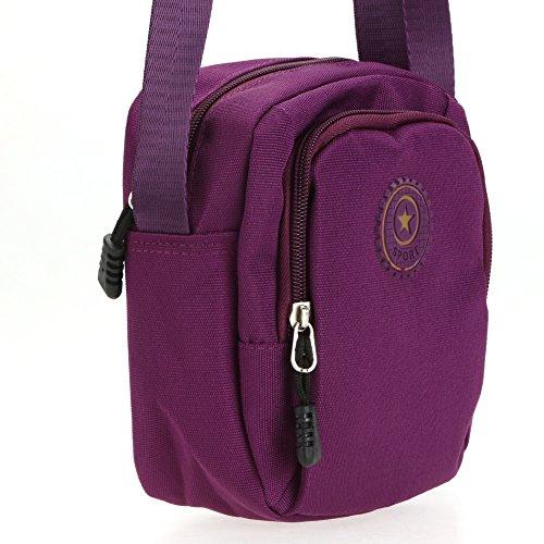Petit Tissu Cabina Homme de La pour Femmes Horizontal Imperméable Sac épaule Sports Oxford en Sacs Bandoulière Sac Portés Violet à New vxAxYFq