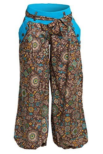 differenti ufash sbuffo 100 disegni a italiano design con cintura stoffa di Calzoni cotone molti Blu Scuro OqrESnwFO