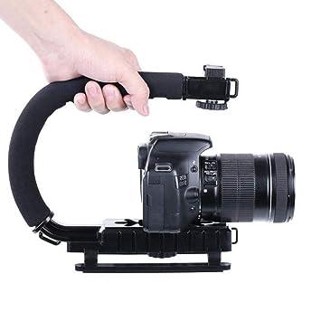 GaoFan - Estabilizador de Mano para cámara de vídeo o cámara ...