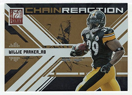 2009 Donruss Elite Chain - Willie Parker 594/899 (Football Card) 2009 Donruss Elite Chain Reaction GOLD # 2
