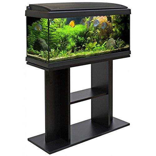 Acuario Milo 80, negro, con mueble de soporte: Amazon.es: Deportes y aire libre