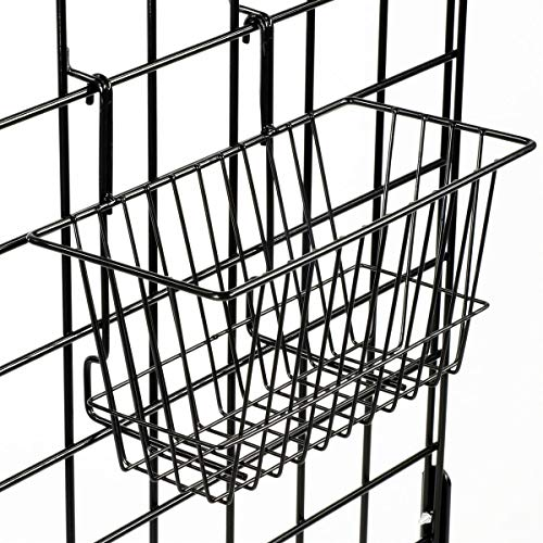 Only Hangers Small Wire Storage Baskets for Gridwall, Slatwall and Pegboard - Black Finish - Dimensions: 12'' x 6'' x 6'' Deep - Economically Sold in a Set of 6 Baskets by Only Hangers (Image #3)