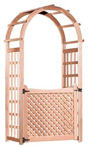 Arboria Glendale Cedar Arbor with Gate (Lattice Gate)
