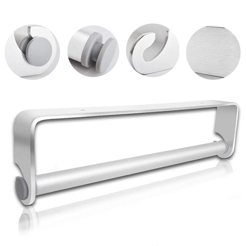 No Drilling Glendan Adhesive Paper Towel Holder Under Cabinet for Kitchen Bathroom,304 Stainless Steel Paper Towel Roll Holder Silver
