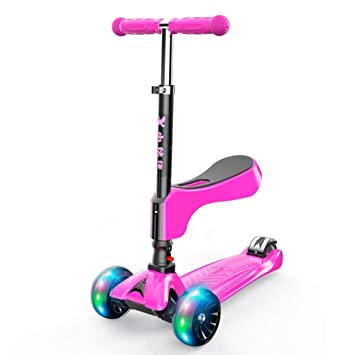 GK Patinete Scooter For Kids Toddlers 2-en-1, 4 Ruedas ...