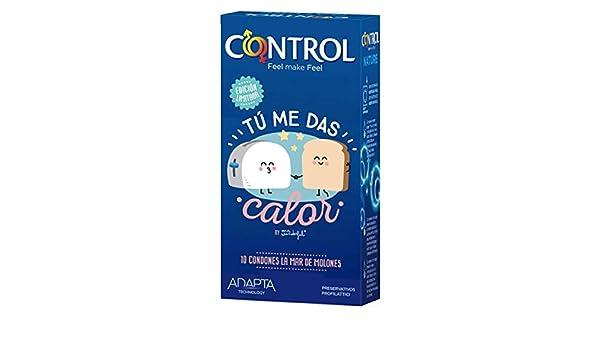 6fe9aaae2 Control: Caja de condones Tu me das Calor 10 ud. Edición especial Mr. Wonderful: Amazon.es: Salud y cuidado personal