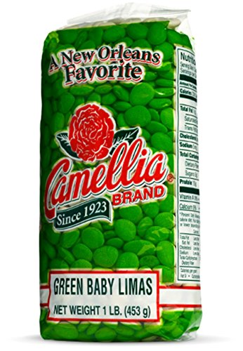 Camellia Green Baby Lima Beans 1 Pound Bag (Lima Beans Large)